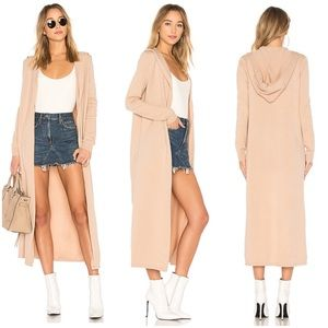 HOUSE OF HARLOW HOOD DUSTER SWEATER LOVERS FRIENDS